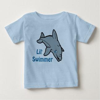 Camiseta Para Bebê T-shirt bonito do golfinho do bebê