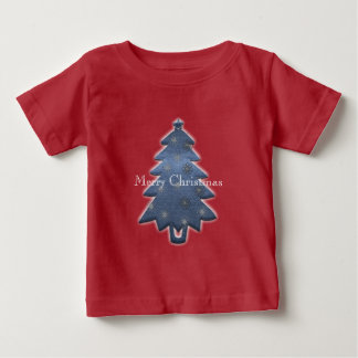 Camiseta Para Bebê T-shirt brilhante bonito do Feliz Natal