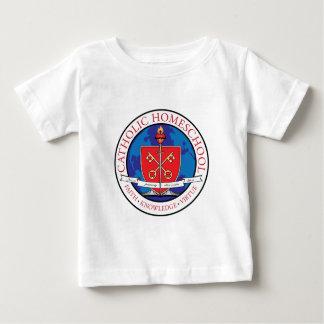 Camiseta Para Bebê T-shirt católico da criança da crista de