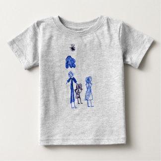 Camiseta Para Bebê T-shirt cinzento do jérsei da multa do bebê com
