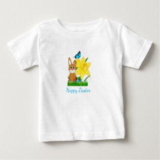 Camiseta Para Bebê T-shirt colorido dos Daffodils da páscoa e dos