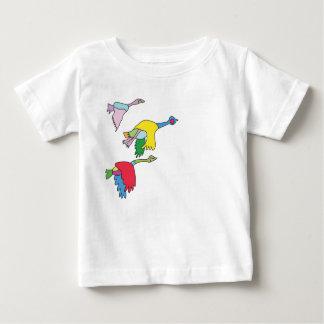 Camiseta Para Bebê T-shirt colorido dos gansos de Canadá para bebês
