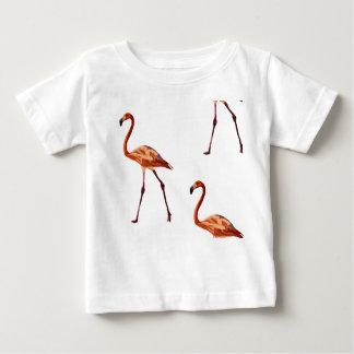 Camiseta Para Bebê T-shirt cor-de-rosa do jérsei da multa do bebê dos