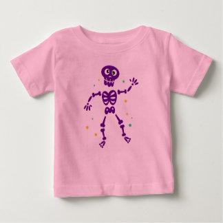 Camiseta Para Bebê T-shirt cor-de-rosa dos miúdos com roxo de