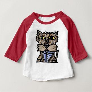"""Camiseta Para Bebê T-shirt """"curioso"""" do Raglan do bebê 3/4"""