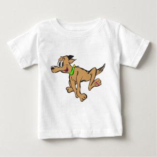 Camiseta Para Bebê T-shirt customizável feliz do jérsei do cão