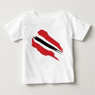 Camiseta Para Bebê T-shirt da bandeira de Trinbago (criança)