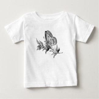 Camiseta Para Bebê T-shirt da borboleta da criança