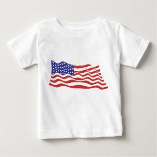 Camiseta Para Bebê T-shirt da criança da bandeira dos EUA