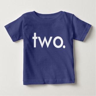 Camiseta Para Bebê t-shirt da criança de dois anos