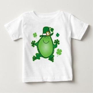 Camiseta Para Bebê T-shirt da criança do sapo do Leprechaun