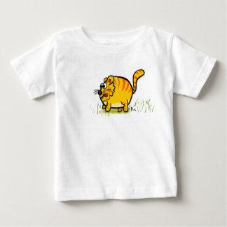 Camiseta Para Bebê T-shirt da criança do tigre