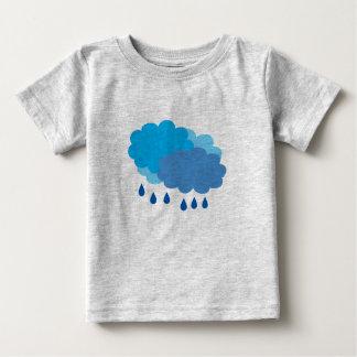 Camiseta Para Bebê T-shirt da nuvem de chuva