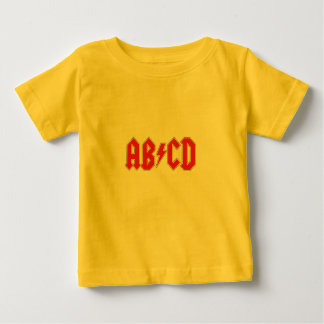 Camiseta Para Bebê T-shirt de Ab/Cd
