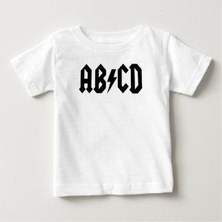 Camiseta Para Bebê T-shirt de ABCD