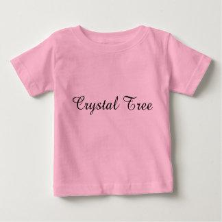 Camiseta Para Bebê T-shirt de cristal do jérsei da multa do bebê da