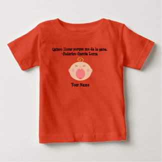 Camiseta Para Bebê T-shirt de grito bonito do bebê da língua