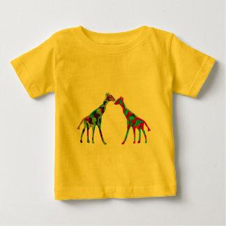 Camiseta Para Bebê T-shirt de Luv do girafa