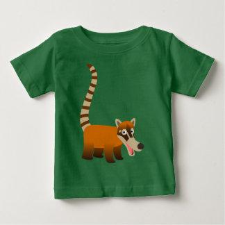 Camiseta Para Bebê T-shirt de sorriso bonitos do bebê do Coatimundi