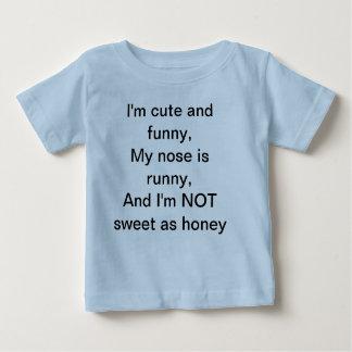 Camiseta Para Bebê T-shirt divertido das crianças