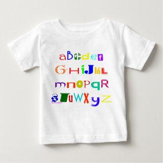 Camiseta Para Bebê T-shirt do alfabeto