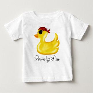 Camiseta Para Bebê T-shirt do aniversário do pato do pirata