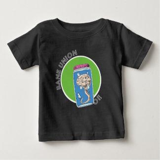 Camiseta Para Bebê T-shirt do bebê com logotipo da mente da união da