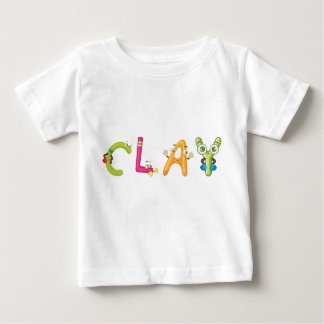Camiseta Para Bebê T-shirt do bebê da argila