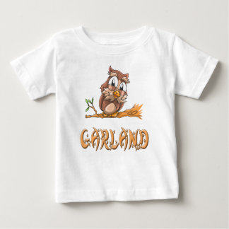 Camiseta Para Bebê T-shirt do bebê da coruja da festão