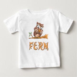 Camiseta Para Bebê T-shirt do bebê da coruja da samambaia