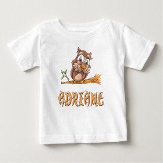 Camiseta Para Bebê T-shirt do bebê da coruja de Adriane