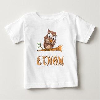 Camiseta Para Bebê T-shirt do bebê da coruja de Ethan