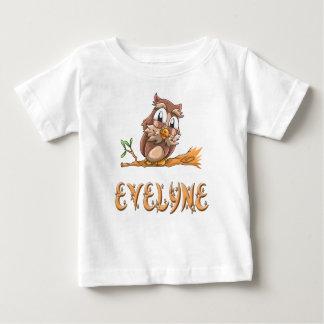 Camiseta Para Bebê T-shirt do bebê da coruja de Evelyne