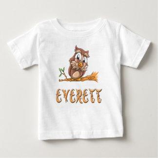 Camiseta Para Bebê T-shirt do bebê da coruja de Everett