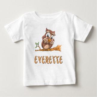 Camiseta Para Bebê T-shirt do bebê da coruja de Everette