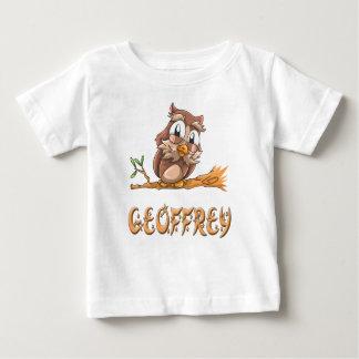 Camiseta Para Bebê T-shirt do bebê da coruja de Geoffrey