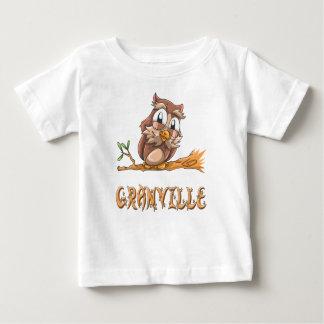 Camiseta Para Bebê T-shirt do bebê da coruja de Granville