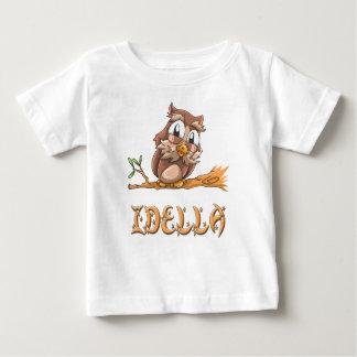 Camiseta Para Bebê T-shirt do bebê da coruja de Idella