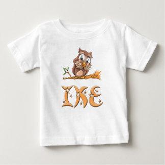 Camiseta Para Bebê T-shirt do bebê da coruja de Ike