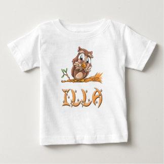 Camiseta Para Bebê T-shirt do bebê da coruja de Illa