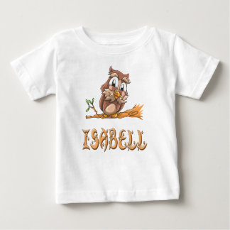 Camiseta Para Bebê T-shirt do bebê da coruja de Isabell