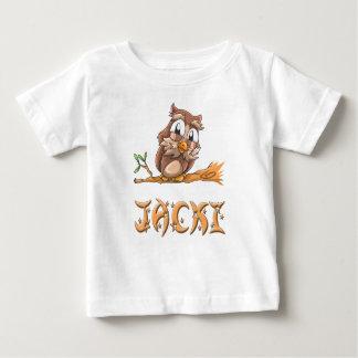 Camiseta Para Bebê T-shirt do bebê da coruja de Jacki