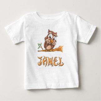 Camiseta Para Bebê T-shirt do bebê da coruja de Janel