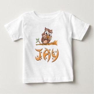 Camiseta Para Bebê T-shirt do bebê da coruja de Jay