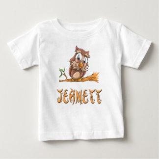Camiseta Para Bebê T-shirt do bebê da coruja de Jeanett