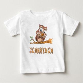 Camiseta Para Bebê T-shirt do bebê da coruja de Johnathon