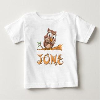 Camiseta Para Bebê T-shirt do bebê da coruja de Jone