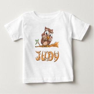 Camiseta Para Bebê T-shirt do bebê da coruja de Judy