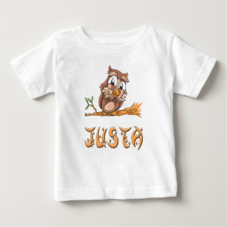 Camiseta Para Bebê T-shirt do bebê da coruja de Justa
