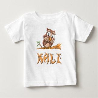 Camiseta Para Bebê T-shirt do bebê da coruja de Kali